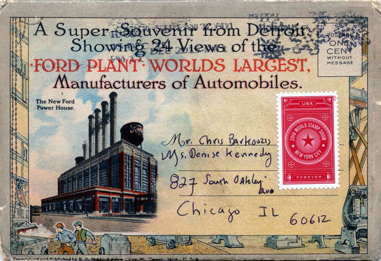 Ford Plant Postcards Circa 19172-rfh1